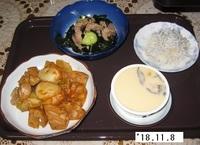 '18.11.8レンコン・鶏肉のキムチ炒め他.JPG