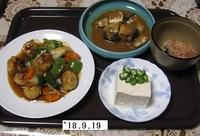 '18.9.19鶏団子の甘酢あんかけ.JPG