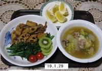 '19.1.29レンコンと豚肉の炒め煮他.JPG
