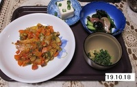 '19.10.18鮭の野菜たれかけ他.JPG