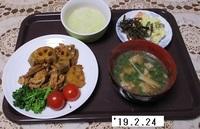 '19.2.24レンコン・ゴボウ・豚肉の煮物・鶏団子汁他.JPG