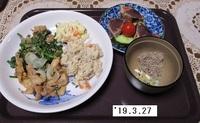 '19.3.27豚肉とブロッコリーのみそゴマ炒め・卯の花他.JPG