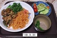 '19.3.31トマトスパ・鶏肉レンコンごまだれ煮他.JPG