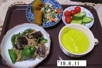 '19.6.11ナス豚肉のみそ炒め・カボチャスープ他.JPG