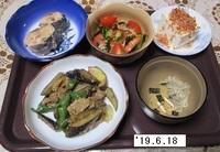 '19.6.18豚肉・ナス・シシトウのみそ炒め他.JPG