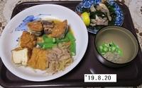 '19.8.20厚揚げ・モヤシ豚肉の煮物他.JPG