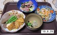 '19.8.29厚揚げ・豚肉他煮物・アジの南蛮漬け他.JPG