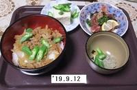 '19.9.12ひき肉丼他.JPG