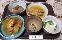 '19.9.15冬瓜と鶏もも肉の煮物・アジの南蛮漬け他.JPG
