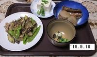 '19.9.18ナス・シシトウ・豚肉みそ炒め他.JPG
