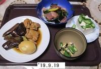 '19.9.19ナスと鶏肉の煮浸し他.JPG