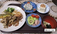 '20.11.10豚肉とシメジの炒め物他.JPG