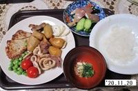 '20.11.20豚肉ソテー・イカサトイモの煮物他.JPG