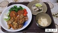 '20.2.17豚肉・レンコン・人参炒め煮他.JPG