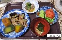'20.6.24ナスと豚肉のユズ味噌炒め・カボチャの煮物他.JPG