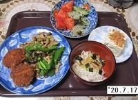 '20.7.17シメジと豚肉の炒め煮他.JPG