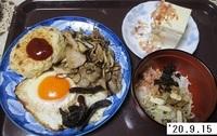 '20.9.15マイタケと豚肉の炒め煮他.JPG