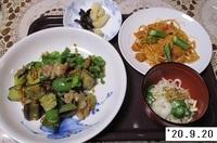 '20.9.20ナス・ピーマン・豚肉のユズ味噌炒め他.JPG