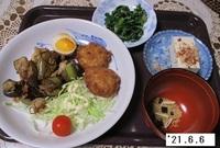'21.6.6ナスと豚肉のみそ炒め他.JPG