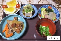 '21.7.7ブリあらの梅みそ煮他.JPG