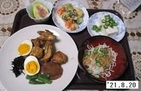 '21.8.20鶏肉さっぱり煮他.JPG
