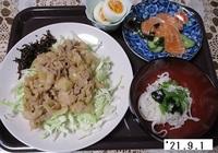 '21.9.1豚肉の生姜焼き他.JPG